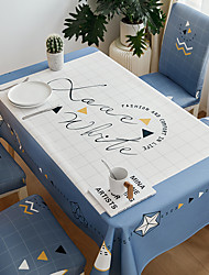 cheap -Thick Waterproof Tablecloth Square Tablecloth Decorative Kitchen Rectangular Tablecloth LOVE LIFE 1 pc