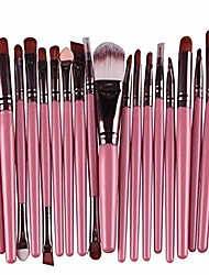 cheap -make up brush set,  20 pcs makeup brush set tools make-up toiletry kit wool (pink)