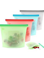cheap -Food silicone fresh bag sub-packed bag kitchen supplies 1000ML fresh bag 4-piece set