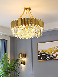 cheap -60 cm Crystal Chandelier Gold Luxury Modern Stainless Steel Electroplated 110-120V 220-240V