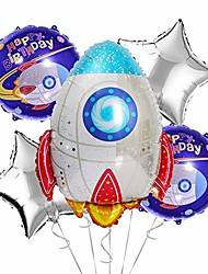 cheap -- outer space birthday balloons | perfect addition to solar system, two the moon, blast off or out of this world themed parties | rocket decorations/supplies for kids party (rocket)