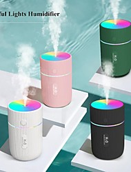 cheap -220ml Marquee USB Air Humidifier Ultrasonic Car Humidifiers with 7 Colors LED Lamps Mist Maker Mini Office Air Purifier