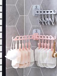 cheap -Wall-mounted Hanger Travel Portable Folding Clothes Rack Plastic Creative Clothes Socks Hanger
