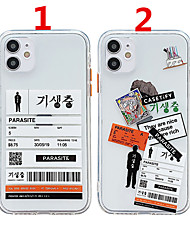 cheap -Case For Apple Scene Map iPhone 12 12 Pro 11 Pro Max Fine Hole Contrast Button Series Text Pattern Thickened TPU Material I Mobile Phone Case OS