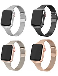 cheap -Watch Band for Apple Watch Band 44/40mm 38/42mm Stainless Steel Metal Bracelet for Apple Watch 6 5 4 3 2 1