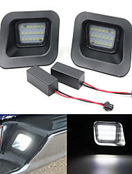 cheap -2Pcs 5W  6500K 18 LED White Bulb License Plate Light  For 22003-2010 Dodge RAM 1500  2500  3500 2010-2018 RAM 1500  2500  3500 2019 RAM 1500 Classic