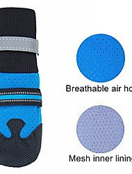 cheap -breathable dog boots nonslip rubber sole for large dogs (pack of 4)