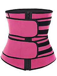 cheap -Corset Women's Plus Size Simple Style Sport Tummy Control Adjustable Solid Color Zipper Others Neoprene Running Gym Walking Driving Fall Winter Spring Summer Black Rose Red
