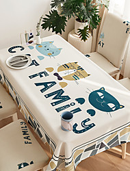cheap -Thick Waterproof Tablecloth Square Tablecloth Decorative Kitchen Rectangular Tablecloth Cats 1 pc