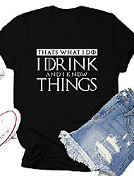 cheap -i drink and i know things shirts women teen girls cute graphic t shirt tops tees gifts black