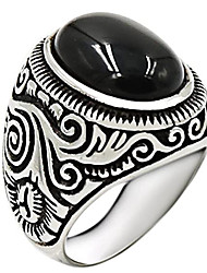 cheap -silver onyx ring for men solid 925 sterling