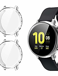 cheap -[2 pack] case for samsung galaxy watch active 2 44mm, all-around tpu anti-scratch flexible screen protector case soft protective bumper cover for samsung galaxy watch active 2. (44mm 40mm)