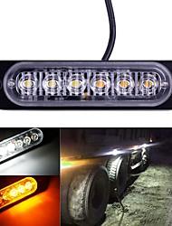 cheap -1pcs 6LED Ambulance Light Trucks Strobe Warning Lamp Ultra-thin Car LED Side Marker Lights Police Flash Emergency Light 12-24V