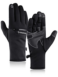 cheap -Winter Bike Gloves / Cycling Gloves Touch Gloves Anti-Slip Waterproof Windproof Warm Full Finger Gloves Sports Gloves Fleece Black Grey Dark Navy for Adults' Outdoor Exercise Cycling / Bike