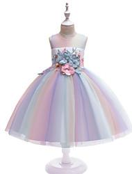cheap -Princess Dress Party Costume Flower Girl Dress Girls' Movie Cosplay Princess Rainbow Dress Children's Day Masquerade Polyester