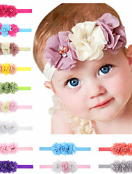cheap -1pcs Toddler / Infant Girls' Basic Black / White / Blue Solid Colored Flower / Floral Style Spandex / Cotton Hair Accessories White / Black / Blue One-Size