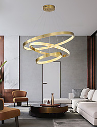 cheap -80 cm Premium Circle Pendant Light Luxury Gold Aluminum Anodized Modern Fashion 110-120V 220-240V