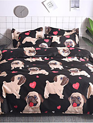 cheap -Pekingese Dog Print 3-Piece Duvet Cover Set Hotel Bedding Sets Comforter Cover with Soft Lightweight Microfiber ,Full/Queen/King(Include 1 Duvet Cover and 1or 2 Pillowcases)