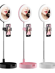 cheap -Folding Integrated Ring-shaped Fill Light Cellphone Live Support Stand LED Makeup Ring Light Ring Mirror Light For YouTube