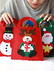 cheap -Christmas Toys Christmas Tote Gift Bag Candy Bag Elk Snowman Santa Claus Handmade Reusable Party Favors Non-woven 1 pcs Kid's Adults Christmas Party Favors Supplies