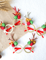 cheap -Christmas Toys Hair Band Photo Booth Props Elk Decoration Party Favors Plastic 3 pcs Kid's Adults 13cm*14cm Christmas Party Favors Supplies