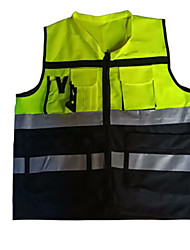 cheap -Reflective Vest Safety Vest Running Gear Breathable Durable Class 2 High Visibility Zipper Reflective Strip Portable Lightweight Comfy Versatile for Running Cycling / Bike Jogging Dog Walking Men