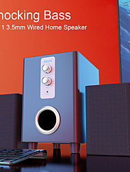 cheap -D-200T 3 in 1 Home Speaker 3.5mm Wired Computer Speakers HD Sound USB Powered Sound Box for Desktop Laptop Notebook Tablet