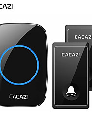 cheap -CACAZI Self-powered Wireless Doorbell No Battery Waterproof LED Flash Home Cordless Doorbell 1 2 Button 1 2 Receiver