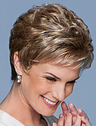 cheap -Synthetic Wig Curly Pixie Cut Wig Short Brown Synthetic Hair Women's Odor Free Fashionable Design Exquisite Brown