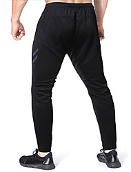 abordables -Hombre Transpirable Corte Ancho Chinos Pantalones de Deporte Pantalones A Rayas Longitud total Negro