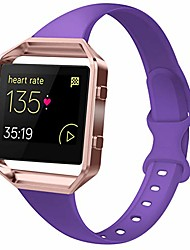 cheap -bands compatible with blaze, slim thin narrow replacement silicone sport accessory strap wristband with metal frame for blaze smart fitness watch women men