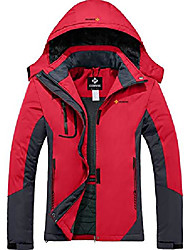 cheap -women's mountain waterproof ski snow jacket winter windproof rain jacket (red,large)