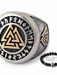 cheap -tripple valknut ring with rune circle symbol 316l stainless steel norse scandinavian viking jewelry (8)