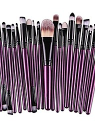 cheap -clearance sale!  20 pcs makeup brush set tools make-up toiletry kit wool make up brush set (d)