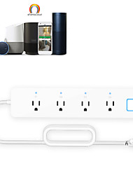 cheap -Wifi Smart Power Strip U.s. Power Strip Tuya Solution Smart Power Strip Mobile Phone Intelligent Control Controller