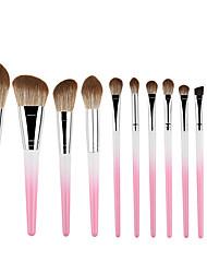 cheap -Gradient color powder white 12 makeup brush set soft brush loose powder brush eye shadow brush factory direct sales