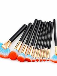cheap -10 pcs kit large fan blush contour eye shadow eyebrow loose powder blend makeup brushes cosmetics tool kit,7