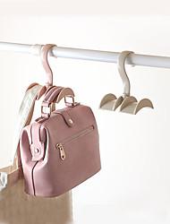 cheap -4Pcs Handbag Bag Holder Space Saving Hanger Cabinets Clothes Rack 360 Degree Rotation Scarf Hanging Rack