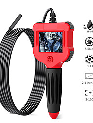 cheap -Digital Borescope 2.4 inch Color LCD Screen Endoscope Camera 5.5MM Camera IP67 Waterproof Semi-Rigid Snake Camera With 6 LED