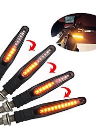 cheap -2Pcs 12V 12LED Lights Flowing Universal Motorcycle Motorbike LED Turn Signal Indicator Light Water Flowing