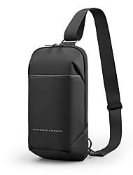 cheap -Men's Bags Oxford Cloth Sling Shoulder Bag Chest Bag Zipper Daily Outdoor 2021 MessengerBag Black