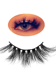 cheap -Mink Eyelashes Makeup Lashes 3D Popular Fluffy Cruelty free Eye Mink Lashes Cross Full Volume False Eyelashes Eyelash