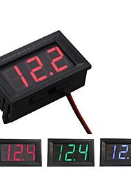 cheap -Digital Voltmeter DC 4.5V to 30V Digital Voltmeter Voltage Panel Meter Red/Blue/Green For 6V 12V Electromobile Motorcycle Car