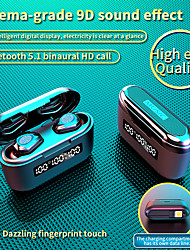 cheap -Imosi G40 TWS True Wireless Earbuds Bluetooth 5.1 Headphone 3500mAh Mobile Power for Smartphone LED Battery Display Touch Control Waterproof Sports Fitness Earphone