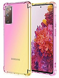 cheap -for galaxy s20 fe 5g case clear transparent reinforced corners tpu shock-absorption flexible cell phone cover for samsung galaxy s20 fe 5g(pink gold)