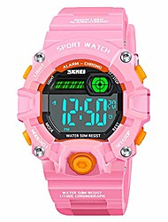 cheap -gifts for 5-12 year old teen girls, 50m waterproof outdoor sport digital watches for 5-12 year old kids girls toys with led alarm stopwatch function electronic watches