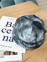 cheap -Women's Floppy Hat Knitwear Active - Print Windproof Fall Winter Black Blue Purple
