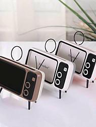cheap -Mini Portable Retro BT Bluetooth Speaker Music TV Design Mobile Phone Holder Speaker Stereo Outdoor Sound