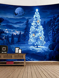 cheap -Christmas / Classic Theme Wall Decor 100% Polyester Classic / Fantasy Wall Art, 150*100 cm Decoration