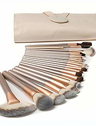 cheap -jinhua makeup brushes set, 24pcs premium cosmetic makeup brush set for foundation blending blush concealer eye shadow brush cruelty-free synthetic fiber bristles, travel makeup bag included (champagne